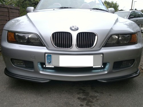 Carbon Fiber Front Lip Spoilers Splitters For 1996 1998 Bmw Z3 Jp Carbon