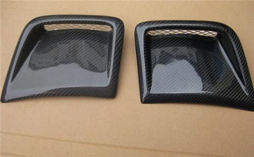Universal Carbon Fiber Hood Side Fender Scoops Vents Air