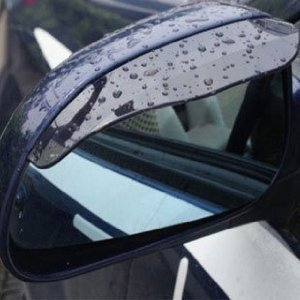 Black Universal Car Mirror Rain Sun Visor For Subaru Brz