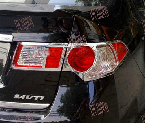 Chrome Rear Tail Light Eyebrows Eyelids Covers For 2009