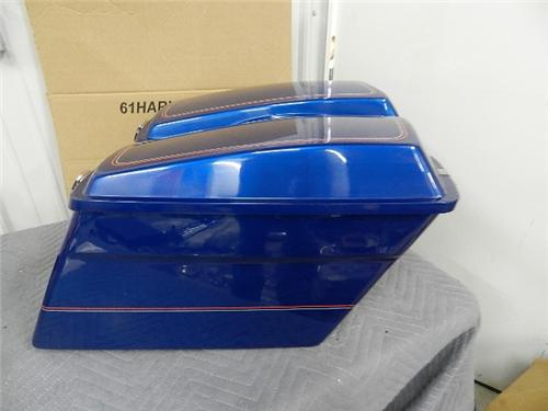 NOS Harley Saddlebags Candy Sapphire Sunglo 90727-92VN 90726-92VN 90856-92VN