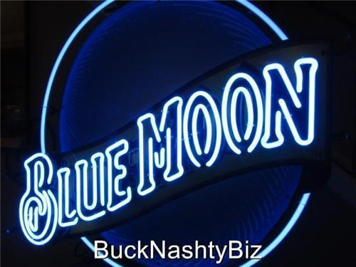 Blue Moon Beer Neon Bar Sign For Sale
