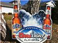 Coors Light NFL Tin Sign Tacker