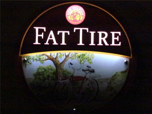 Fat Tire Beer LED Sign Bar Light