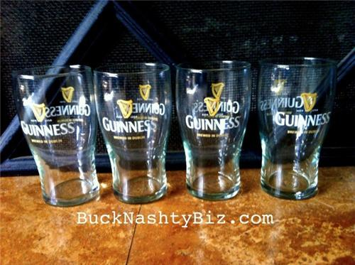 Guinness Draught Glassware - 8 Pint Glasses