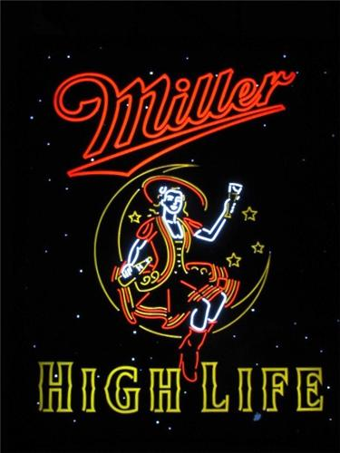 Miller High Life Girl In the Moon Neo-Neon Backlit LED Light Box