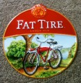 Fat Tire Round Tin Beer Sign
