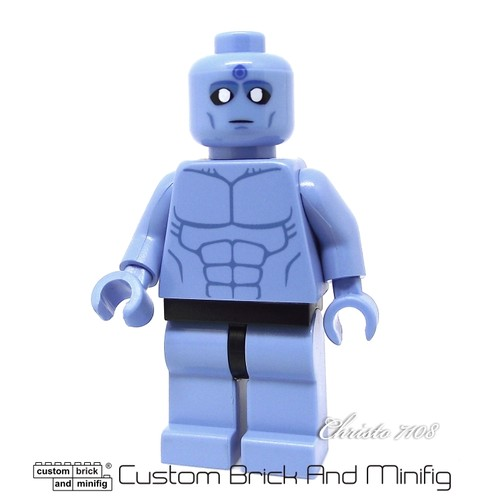 Custom Lego Dr Manhattan Custom Brick And Minifig