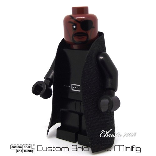Custom Lego Nick Fury - Custom Brick And Minifig