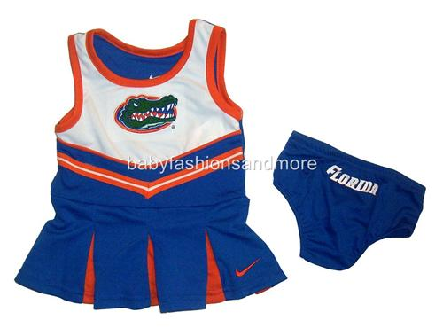 NIKE Baby girls NCAA FLORIDA GATORS CHEERLEADER outfit ...