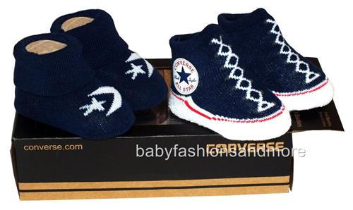 Baby Boys Girls Converse All Star Shoes Style Booties 2pk