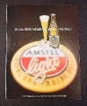 Magazine Ad for Amstel Light Beer, 1984,