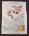 Magazine Ad for New England Life, 1984, Scuba Divers with Treasure