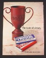"Magazine Ad for Nestle Milk Chocolate, 1984, ""Trophy Made of Chocolate"""