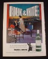 Magazine Ad for Black & White Scotch, 1963, Grand Piano