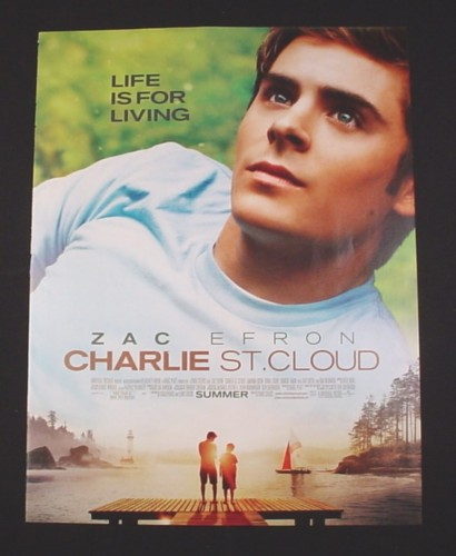 Magazine Ad for Charlie St. Cloud Movie, 2010, Zac Efron Life is for living