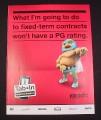 "Magazine Ad for Koodo, 2010, Wrestler,  8"" by 10 1/2"", July 2010 Famous Magazine"