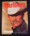 Magazine Ad for Marlboro Cigarettes, 1985, Cowboy with White Hat, Marlboro Man