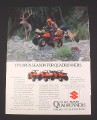Magazine Ad for Suzuki Quadrunners, 1984, 4 Wheel ATV