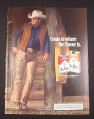 Magazine Ad for Marlboro Cigarettes, 1984, Cowboy with Chaps
