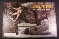 Magazine Ad for Camel Cigarettes, 1984, Man with curly hair by waterfall