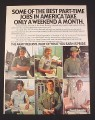 Magazine Ad for Army Reserve, 1977, 6 Different Jobs, 8 1/4