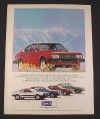 Magazine Ad for Lancia Car, 1976, Coupe Sedan Hype Scorpion