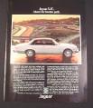 "Magazine Ad for Jaguar XJC Car, 1976, ""Above the beaten path"""