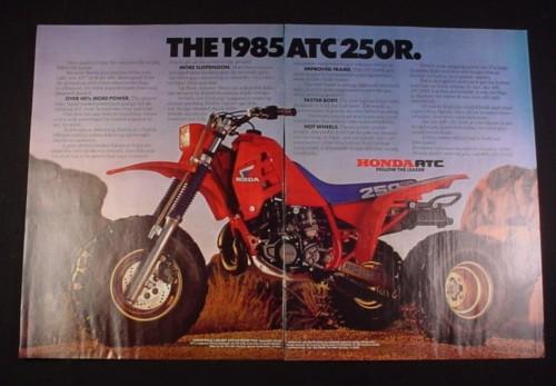 Magazine Ad for 1985 Honda 250R ATC Trike, 1984, 2 Page Ad