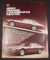 Magazine Ad for Jaguar S-Type Car 1976 Unleashes a new breed of cat
