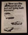 Magazine Ad for Maserati Khamsin GT Car 1976 Grossman Motor Car