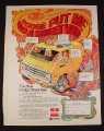 Magazine Ad for Dodge Street Van, 1976, Psychedelic Graphics