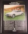 Magazine Ad for Jaguar Sedan Car, 1976, Horse Paddocks