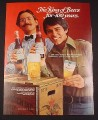 Magazine Ad for Budweiser Beer, 1976, 100th Anniversary, Crate