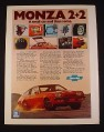 Magazine Ad for Chevrolet Monza 2 + 2 Car, 1976, Red Car