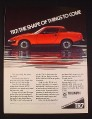 Magazine Ad for Triumph TR7 Car, 1976, Red Car