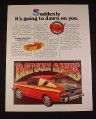Magazine Ad for Datsun B-210 Hatchback Car, 1977