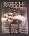Magazine Ad for Porsche 924 Car, 1977, Silver, Interior