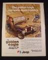 Magazine Ad for Jeep CJ Car, 1977, Golden Eagle Limited Edition