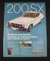 Magazine Ad for Datsun 200-SX Car, 1977, Yellow Racing Stripe
