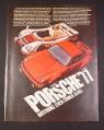 Magazine Ad for Porsche Turbo Carrera '77 Car, 1977, Porsche 936
