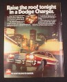 Magazine Ad for Dodge Charger Car, 1977, T-Bar Roof