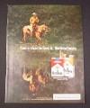 Magazine Ad for Marlboro Cigarettes, 1977, Cowboy reflection
