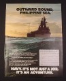Magazine Ad for Navy Recruitment 1977 Outward Bound, Philippine Sea