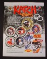 Magazine Ad for Katch the Game, 1998, NHL Coins & Magnetic Masks