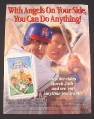 Magazine Ad for Disney Angels in the Outfield Movie, 1995