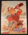 Magazine Ad for Coca-Cola Coke, 1995, Cartoon Baseball Player