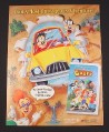 Magazine Ad for Disney A Goofy Movie, 1995, On Video