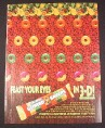 Magazine Ad for Lifesavers Gummi Savers Candy, 1995