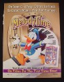 Magazine Ad for Disney Melodytime Movie Video 1998 Donald Duck June/July 1998